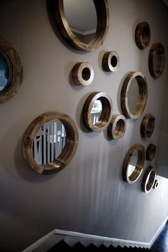 Impressive Wall Mirror Sets Decorative Decorating Ideas Images in Hall Contemporary design ideas-Good idea for the great room wall
