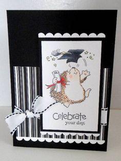 Penny Black hedgehog graduation card