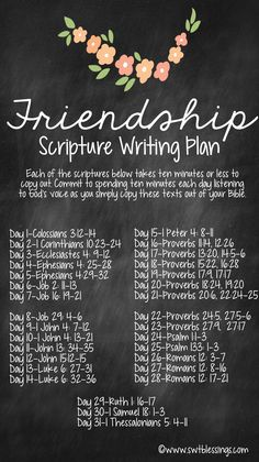 Month of May - Scripture Writing Plan - Friendship - topic of Friendship. Godly friends are so important in my life and I a. Bible Study Plans, Bible Plan, Bible Study Tips, Bible Study Journal, Journal Prompts, Scripture Reading, Scripture Study, Bible Verses Quotes, Bible Scriptures