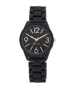 Jewellery & Accessories | Women's Watches | 1812BKBK Rubberized Bracelet Strap Watch | Hudson's Bay