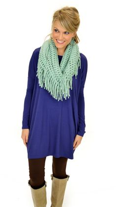 Our fave tee is back as a tunic! $42 at shopbluedoor.com!
