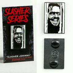 """Slashers"" Series -Johnny Slasher Limited Glow Enamel Pin Horror Movie Shining"