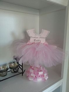 Double Sided Personalized Pink TuTu Dress Centerpiece / Ballerina Baby Shower / Ballerina Centerpiece