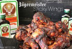 Jagermeister Sticky Wings!