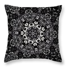Image 2024 Throw Pillow featuring the digital art Kaleidoscope Flower 2024 by Aileen Griffin
