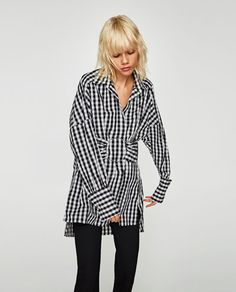CHECKED SHIRT WITH LARGE RING-View all-TOPS-WOMAN | ZARA United States