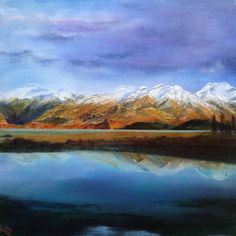 Wanaka Mountains acrylic on canvas Online Painting, Paintings Online, Exotic Flowers, Art Club, Landscape Paintings, New Zealand, Original Paintings, Arts And Crafts, Watercolor