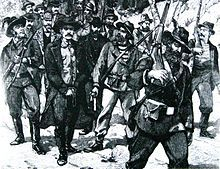 A sketch showing the arrest of Jameson after the failed raid, in 1896