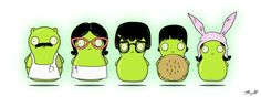 Bobs Burgers Belcher kuchi Kopi family portrait by SayNoMoore