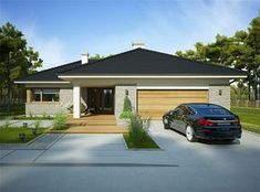 Stylish Kitchen, Outdoor Living, Outdoor Decor, Facade House, Modern Exterior, Modern House Design, Garden Planning, House Plans, Outdoor Structures