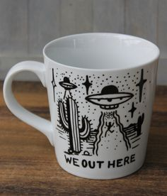 Hey, I found this really awesome Etsy listing at https://www.etsy.com/listing/253603717/ufo-we-out-here-coffee-mug-16-ounce-hand