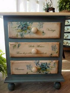 st suited for this type of tr. - 44 trendy furniture makeover decoupage bedrooms …st suited for this type of treatment and do not - Diy Garden Furniture, Trendy Furniture, Repurposed Furniture, Shabby Chic Furniture, Furniture Projects, Vintage Furniture, Farmhouse Furniture, Furniture Design, Rustic Furniture