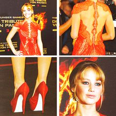 Jennifer in Marchesa for 'The Hunger Games' premiere in Berlin
