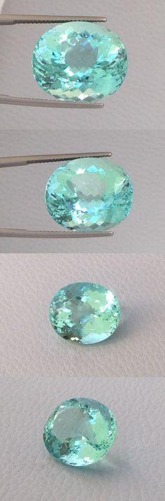 Beryl 110789: Natural Beryl Aquamarine Gem Paraiba Like Color 20.48 Carats Oval Cut BUY IT NOW ONLY: $12000.0