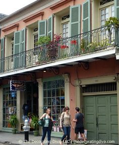 Architectural delights in the French Quarter swathed in colors rich in history and beauty.