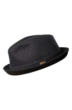 d89629a5ed52f A handsome wool linen blend forms a clean-cut trilby with a classic turn-up  wool
