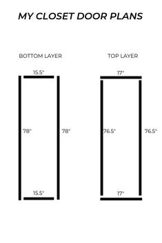 DIY CLOSET DOORS FOR UNDER $50 - Tight Budget? No problem! Folding Closet Doors, Diy Closet Doors, Wooden Closet, Folding Screens, Hall Closet, Moving To Idaho, New Mobile Homes, Room Divider Doors, Room Dividers