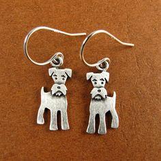Tiny schnauzer earrings
