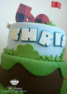 60th birthday golf cake - Cake by Isabelle Bambridge