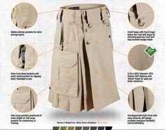 Sold-out camouflage KILT is put to the test as men wear it to zipline Diy Clothing, Sewing Clothes, Tactical Kilt, Kilt Pattern, Utility Kilt, Man Skirt, Men In Kilts, Celtic Designs, Dressmaking