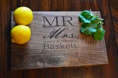 Personalized cutting board monogram cutting by CozyHomeDecors