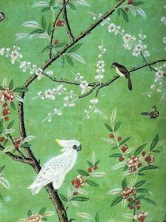 爱 Chinoiserie? Mai Qui! 爱 #home #decor in chinoiserie style - Hand painted…