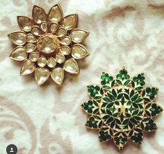 White noise studio - polki / kundan / rosecut diamond earrings