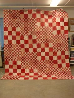 Red and White Quilt by QuiltsbyStacy on Etsy, $450.00