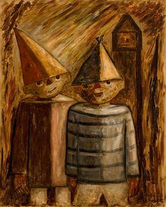 Tadeusz Makowski, Dwaj młodzi przyjaciele Poland, Paintings, Image, Home, Art, Paint, Painting Art, Painting, Painted Canvas