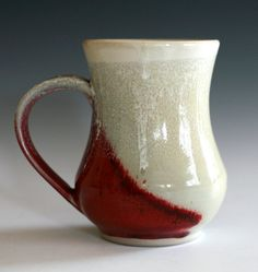 red mug - gorgeous glaze