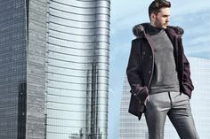 Watching the horizon of the city. Larusmiani FW1516 campaign shot in Milan