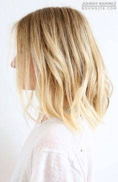 blonde mid-length bob