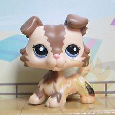Littlest Pet Shop Animal Collection LPS Child Toy #2210 Brown Caramel Collie Dog