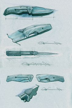 sketches knives