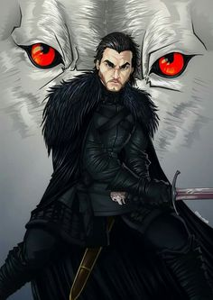 Jon Snow by Zino -Mak.  Jon Snow's facial features look more mature here due to the hardships of the past year. Getting that rugged look of the true Northerner.
