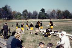 Cheerleaders at West Milford High School. October West Milford, New Jersey. New Jersey, West Milford, Cheerleading, High School, Photo And Video, Random, October, Animals, Vintage