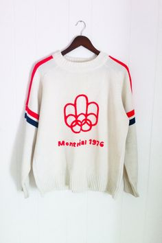 Vintage 1976 Montreal Olympics Knit Sweater