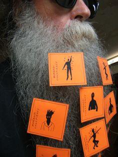 BEARD GALLERY - Opere di Emilio Morandi installate sulla mia barba (Galleria Pensile)