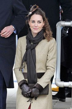 February 24, 2011, Prince William and Kate Middleton dedicate a lifeboat in their first official appearance together, since the announcement of their engagement. The 29 year old princess-to-be opened a bottle of champagne over the lifeboat during the Naming Ceremony and Service of Dedication of the Atlantic 85 Lifeboat 'Hereford Endeavor' at Trearddur Bay.