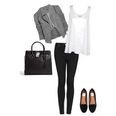 A fashion look featuring loose white tank top, Topshop and leather loafers. Browse and shop related looks.