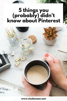 Five Things You Probably Didn't Know About Pinterest - Exploring some truths about the popular platform #Pinterest #marketing #socialmedia #socialmediatips #Pinteresttips #smallbusiness #blogging #bloggingtips Like Facebook, Social Media Tips, Exploring, Truths, About Me Blog, Platform, Popular, Pinterest Marketing, Tableware