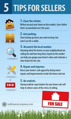 5 tips to share with your sellers today! #realestate #infographic