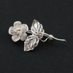 Hey, I found this really awesome Etsy listing at https://www.etsy.com/listing/181456771/thea-rose-silver-filigree-brooch