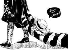 Oh Luffy and Trafalgar Law #one piece #nakama