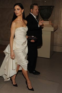 The Met Gala's Jamesian Society - Slideshow.  Georgina Chapman in Marchesa with Harvey Weinstein. Photo by Steve Eichner
