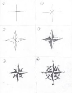 How to draw a rose compass