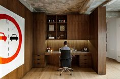 Work corner at London apartment by William Tozer