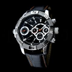 Pánské hodinky - Gino Rossi, Bunt, černé Breitling, Gin, Watches, Accessories, Fashion, Moda, Fashion Styles, Clocks, Clock