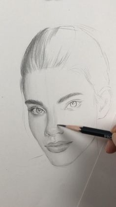 Face proportions by Nadia Coolrista - Kunst Person Drawing, Nose Drawing, Realistic Drawings, Art Drawings Sketches, Drawing Techniques, Drawing Tips, Face Proportions, Beautiful Drawings, Beautiful Pictures