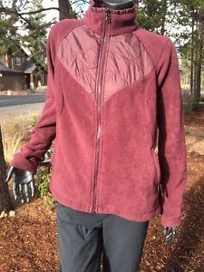 Womens Columbia Interchange Quilted Zip Up Red Wine Fleece M-L Mint Jacket  | eBay